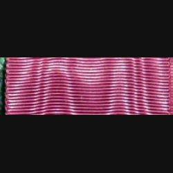 BELGIQUE : Ce ruban de l'ordre de la couronne belge a une longueur de 14 cm et une largeur de 3,7 cm