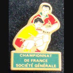 Pin's sportif : pin's Championnat de France Société Générale Rugby
