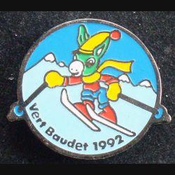 Pin's sportif : pin's Vert Baudet 1992 ski