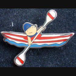 Pin's sportif : pin's de Canoë Kayak 1988 de fabrication COOB 92