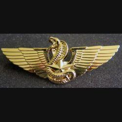CPIS : insigne métallique du brevet moniteur de combat spécialisé CT2 or
