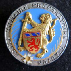 AUTUN : insigne métallique de l'école militaire d'Autun de fabrication Fraisse H. 631