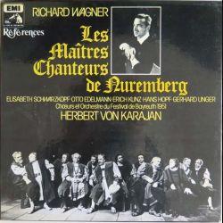 DISQUE 33T : Coffret de 5 disques vinyles 33 tours les Maîtres Chanteurs de Nuremberg de Wagner par Herbert Von Karajan