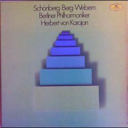 DISQUE 33T : Coffret de 4 disques vinyles 33 tours Schönberg, Berg, Webern