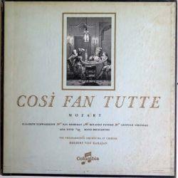 DISQUE 33T : Coffret de 3 disques vinyles 33 tours de Mozart Cosi Fan Tutte Herbert Von Karajan