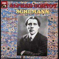 DISQUE 33T : coffret de 3 disques vinyles 33 tours de Schumann par Alfred Cortot