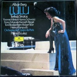DISQUE 33T : Coffret de 4 disques vinyles 33 tours Lulu de Alban Berg