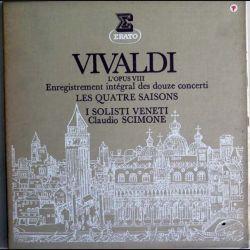 DISQUE 33T : Coffret de 3 disques vinyles 33 tours de Vivaldi