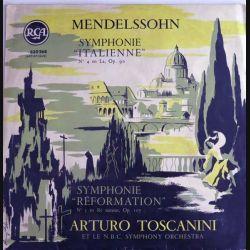 DISQUE 33T : Disque vinyle 33 tours Symphonie Italienne de Mendelssohn avec Arturo Toscanini éditions RCA