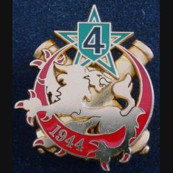 54° RA : insigne métallique de la 4° compagnie
