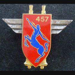 457° GAA : insigne métallique du 457° groupe d'artillerie antiaérienne de fabrication Drago Paris G. 1193 en émail