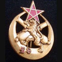 54° RA :  Insigne métallique du 54° régiment d'Artillerie de fabrication Drago Paris