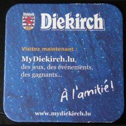 DESSOUS DE VERRE A BIÈRE : Dessous de verre à bière Diekirch 9,3 x 9,3 cm