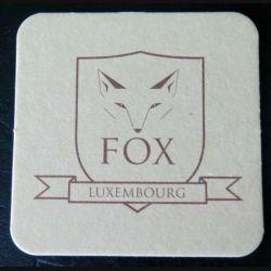DESSOUS DE VERRE A BIÈRE : Dessous de verre à bière Fox Luxembourg 9,3 x 9,3 cm