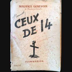 1. Ceux de 14 de Maurice Genevoix aux éditions flammarion