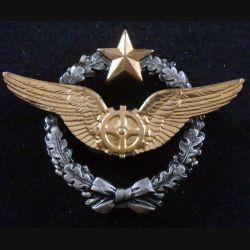 BREVET AIR : insigne métallique de brevet de mécanicien volant de l'armée de l'air de fabrication Drago Romainville