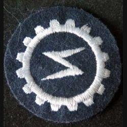 MILITARIA : insigne tissu allemand de technicien des sytèmes radios de diamètre 5 cm