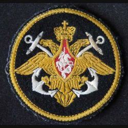 RUSSIE : insigne tissu de la marine russe de diamètre 9 cm