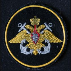 RUSSIE : insigne tissu de la marine russe de diamètre 8 cm