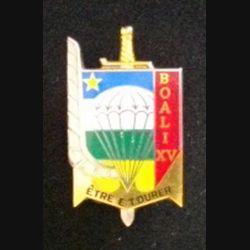 3° RPIMA : insigne métallique BOALI XV du 3° régiment parachustiste d'infanterie de marine de fabrication Boussemart