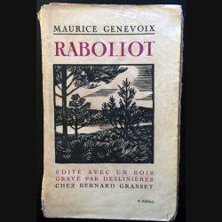 1. Raboliot de Maurice Genevoix aux éditions Bernard Grasset