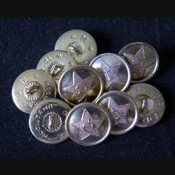 RUSSIE : Lot de 10 boutons de l'armée soviétique