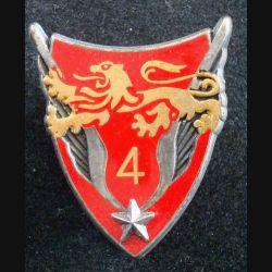 4° GHL : insigne métallique du 4° groupement d'hélicoptères légers de fabrication Fraisse G. 1926