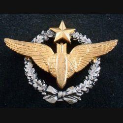 BREVET AIR : insigne métallique de brevet de bombardier de fabrication Drago Olivier Métra