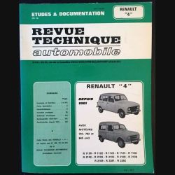 """1. Revue technique automobile Renault """"4"""" depuis 1961"""