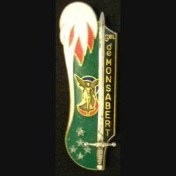 PROMOTION ESM SAINT CYR : insigne métallique de la promotion de l'école spéciale militaire de Saint Cyr Coetquidan Général de Montsabert de fabrication Fraisse G. 3106