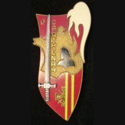 PROMOTION ESM SAINT CYR :  insigne métallique de la promotion de l'école spéciale militaire de Saint Cyr Coëtquidan Lieutenant Darthenay de fabrication Arthus Bertrand Paris G. 2439