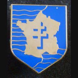 2°DB : insigne métallique de la 2° division blindée fabriqué par Arthus Bertrand pour les éditions Atlas
