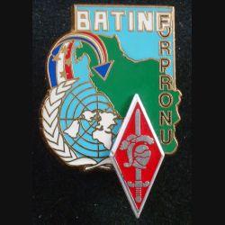 10° DB : insigne métallique de la 10° Division blindée BATINF FORPRONU de fabrication Delsart