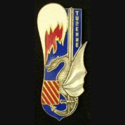 PROMOTION ESM SAINT CYR : insigne métallique de la promotion de l'école spéciale militaire de Saint Cyr Coëtquidan Turenne de fabrication Drago Paris G. 2394