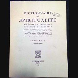 1. Dictionnaire de spiritualité ascétique et mystique Doctrine et Histoire FASCICULES XLIV-XLV Haakman Hoeger