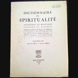 1. Dictionnaire de spiritualité ascétique et mystique Doctrine et Histoire FASCICULES XLI
