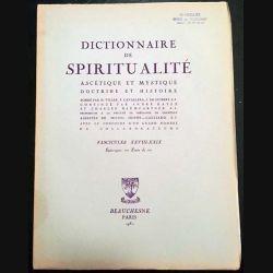 1. Dictionnaire de spiritualité ascétique et mystique Doctrine et Histoire FASCICULES XXVIII - XXIX