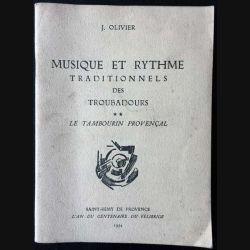 1. Musique et rythme traditionnels des troubadours de J. Olivier