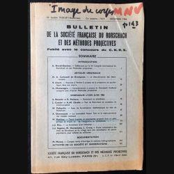 1. Bulletin de la société française du Rorschach et des méthodes projectives publié avec le concours du C.N.R.S
