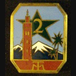 2° RTM : 2° RÉGIMENT DE TIRAILLEURS MAROCAINS (MINARET MARRON)