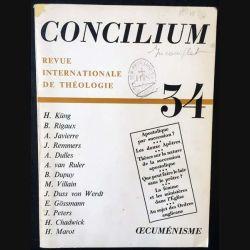 1. Concilium 34 revue internationale de théologie aux éditions Mame