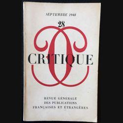 1. Critique n°28 Revue générale des publications françaises et étrangères Septembre 1948