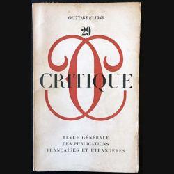 1. Critique n°29 Revue générale des publications françaises et étrangères Octobre 1948
