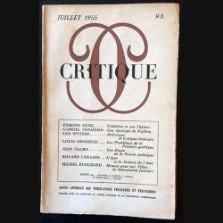 1. Critique n°98 Revue générale des publications françaises et étrangères Juillet 1955