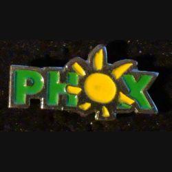 PIN'S PHOX : Phox soleil de largeur 2 cm