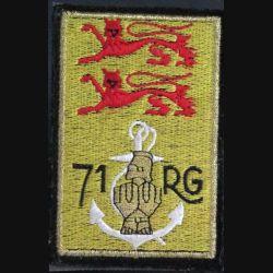 71° RG : insigne tissu