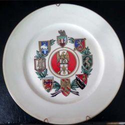 15° DI : assiette en porcelaine de Haviland Limoges de la 15° division d'Infanterie en 1986