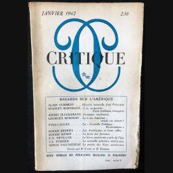 1. Critique n°236 Revue générale des publications françaises et étrangères Janvier 1967 aux éditions de Minuit