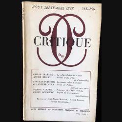 1. Critique n°255-256 Revue générale des publications françaises et étrangères Aout-Septembre 1968