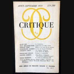1. Critique n°279-280 Revue générale des publications françaises et étrangères Aout-Septembre 1970